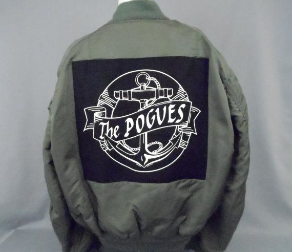 Paddy Punk Vintage MA1 Green Flight Jacket by PunkRockCloset f8faf8365