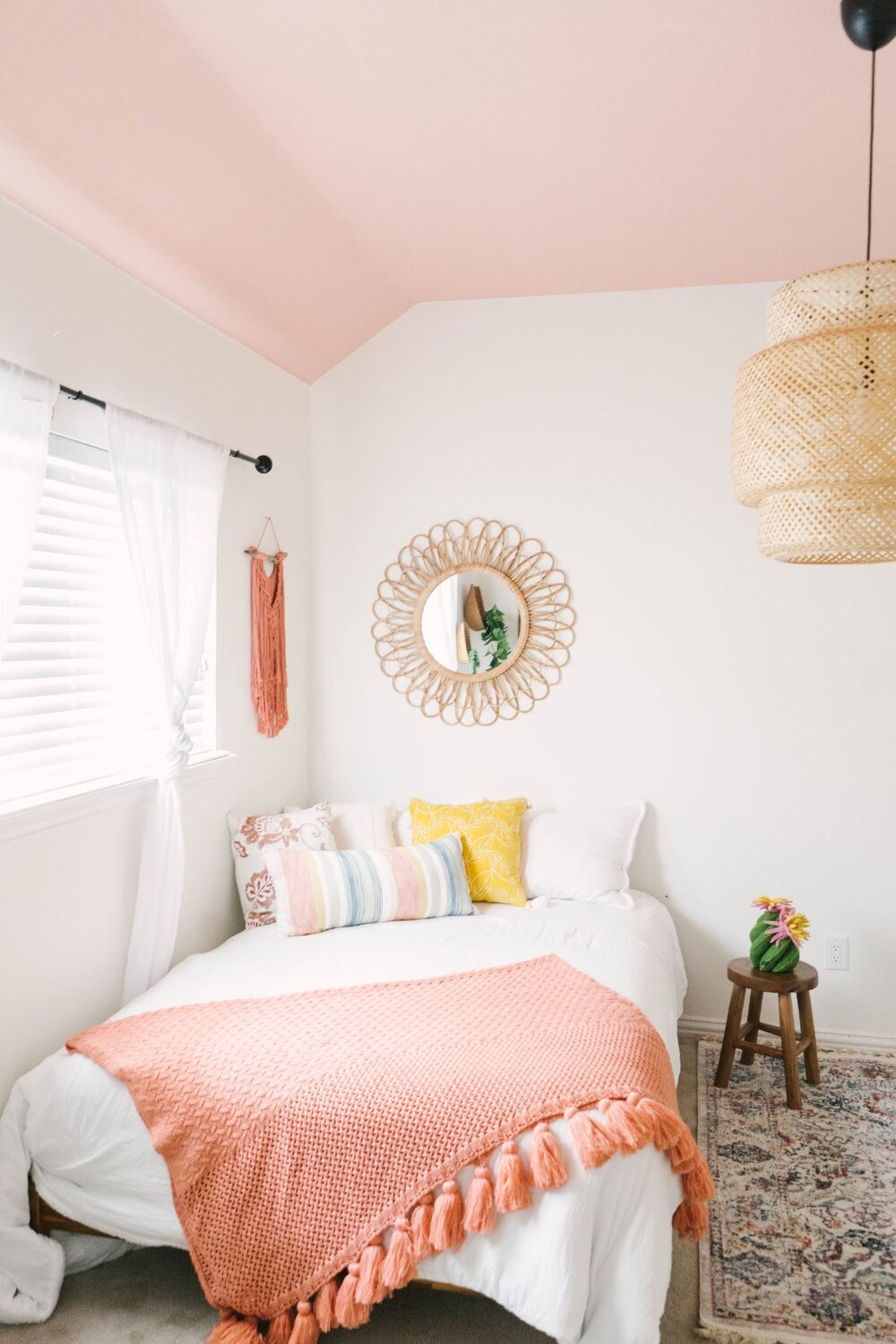 Blush & Coral Boho Little Girls Bedroom — Farmhouse Living