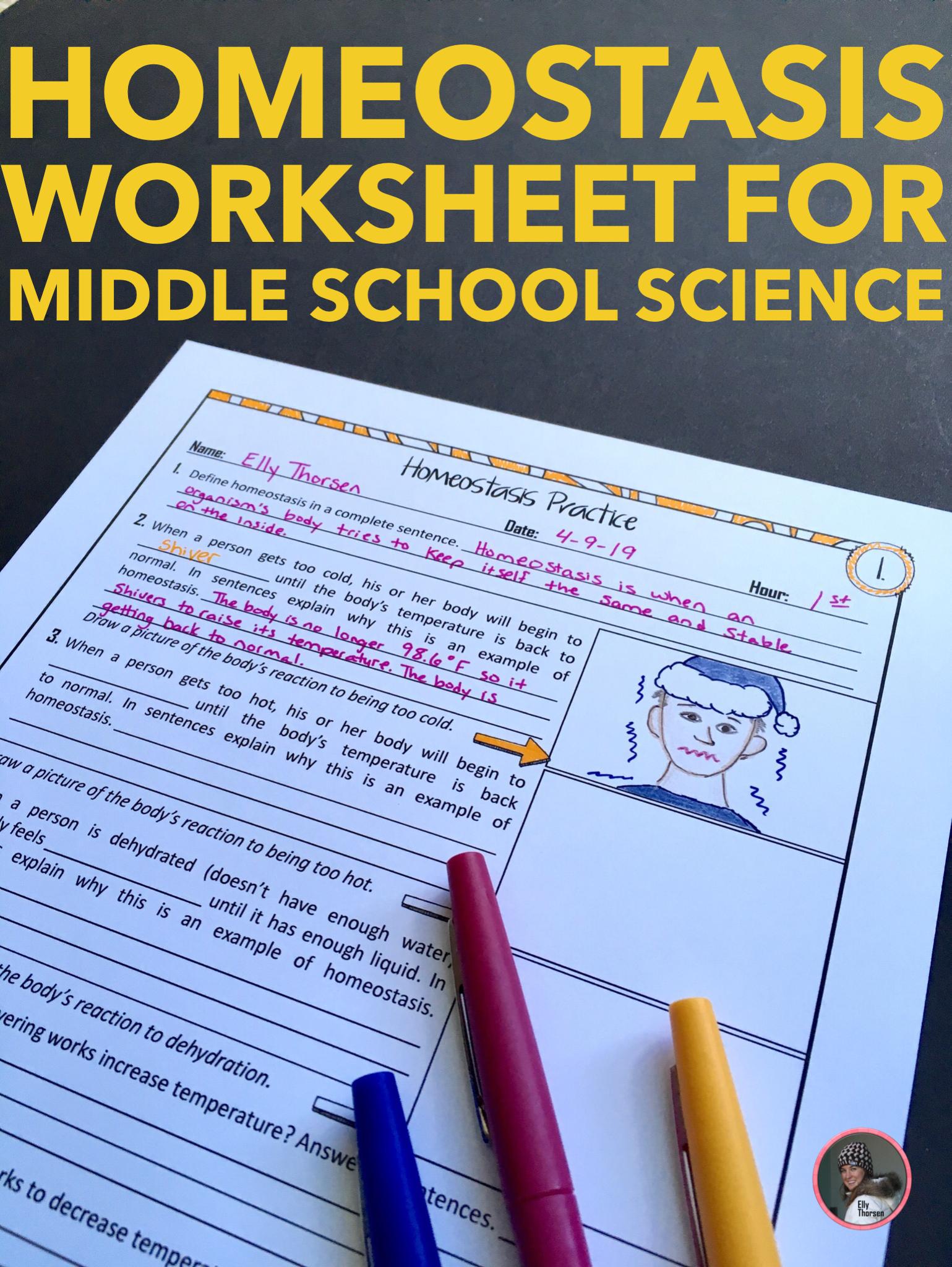 Homeostasis Practice Worksheet Middle School Science Middle School Science Projects Middle School Science Resources [ 2048 x 1539 Pixel ]