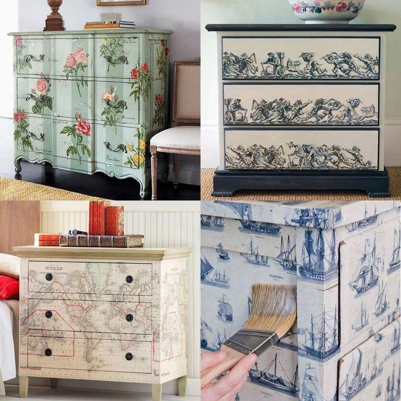 verschiedene varianten f r shabby chic schrank mit serviettentechnik aufgepeppt m bel diy. Black Bedroom Furniture Sets. Home Design Ideas