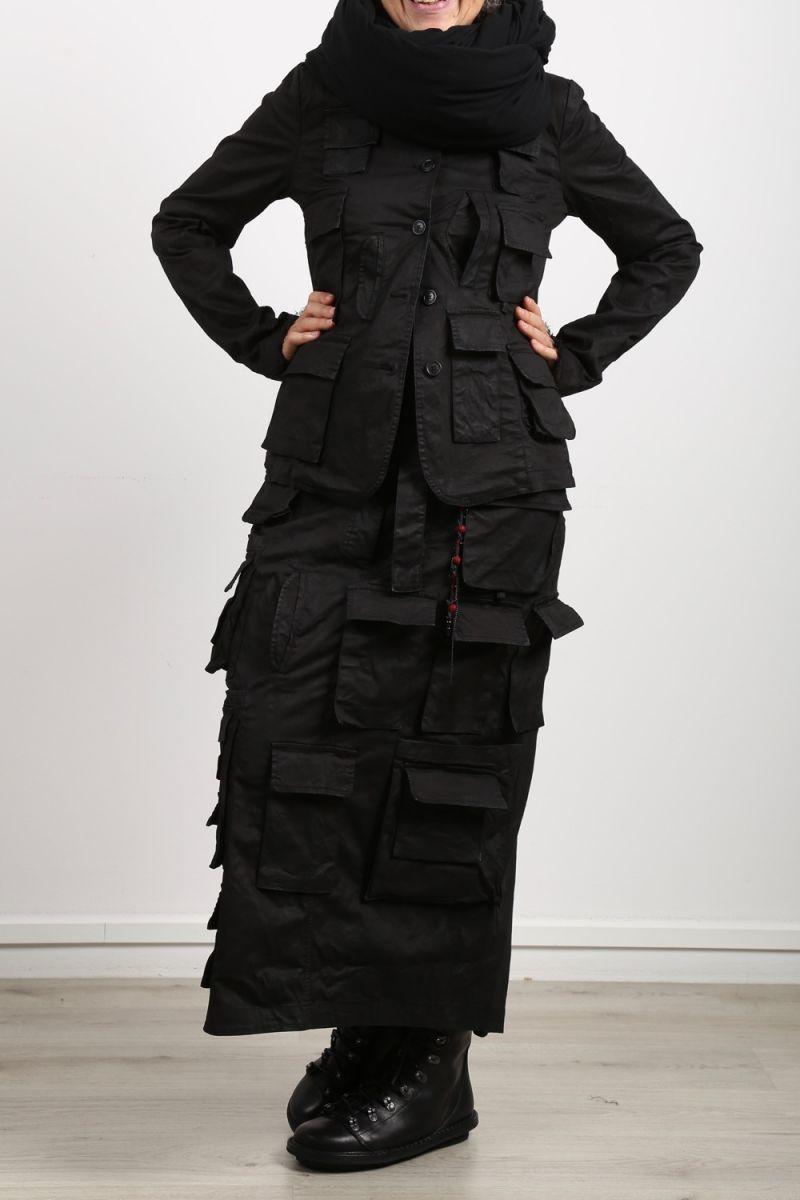 jacke schwarz mit vielen taschen
