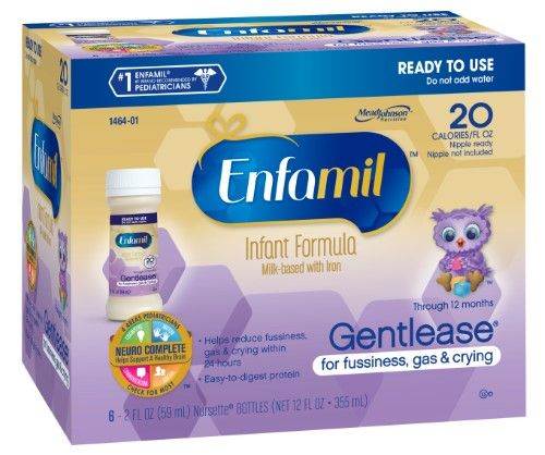 Enfamil Gentlease Infant Formula, Ready to Use, (6 Bottles ...