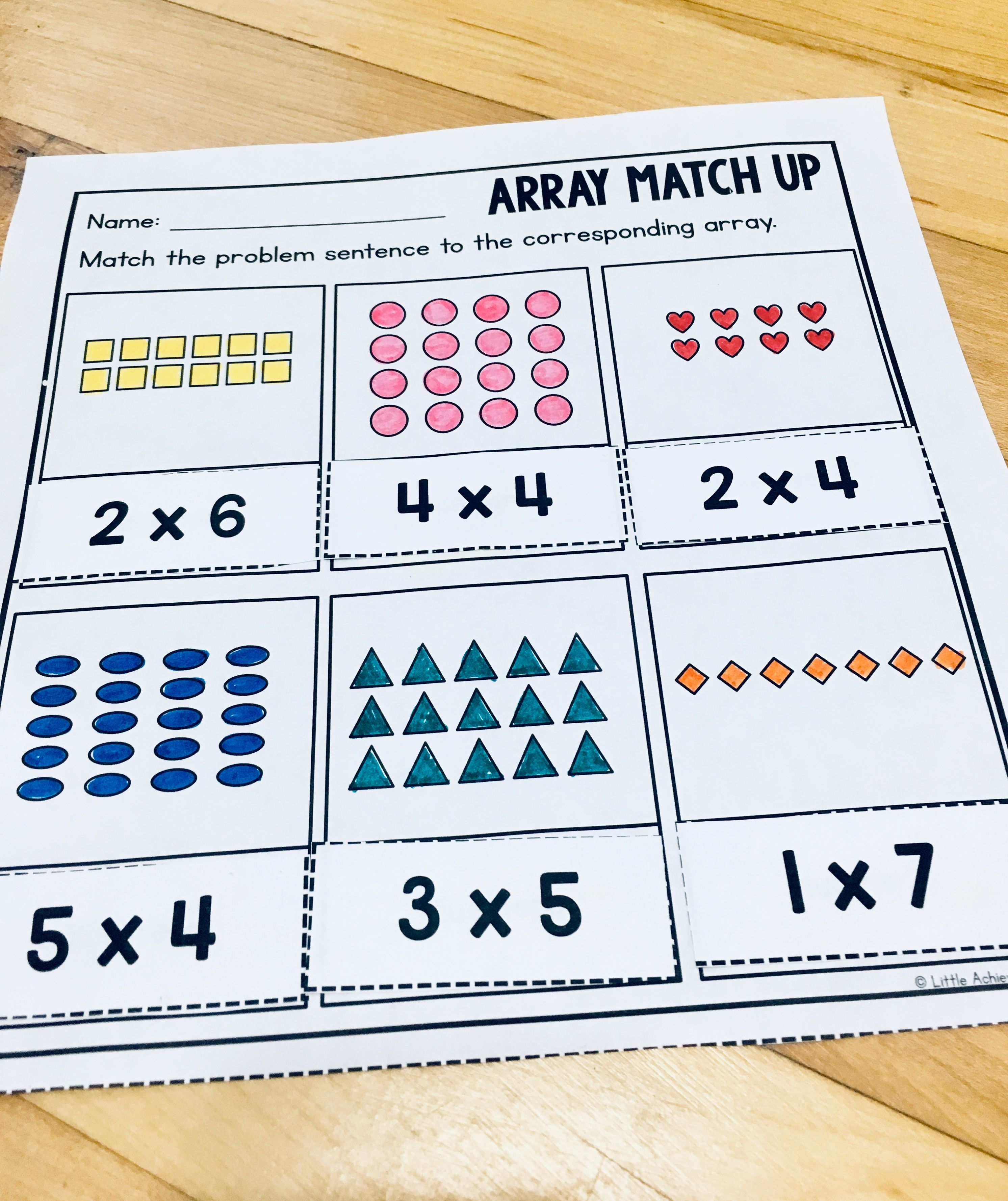 Arrays Worksheets 2nd Grade   Repeated Addition Arrays   Array worksheets [ 3555 x 2985 Pixel ]