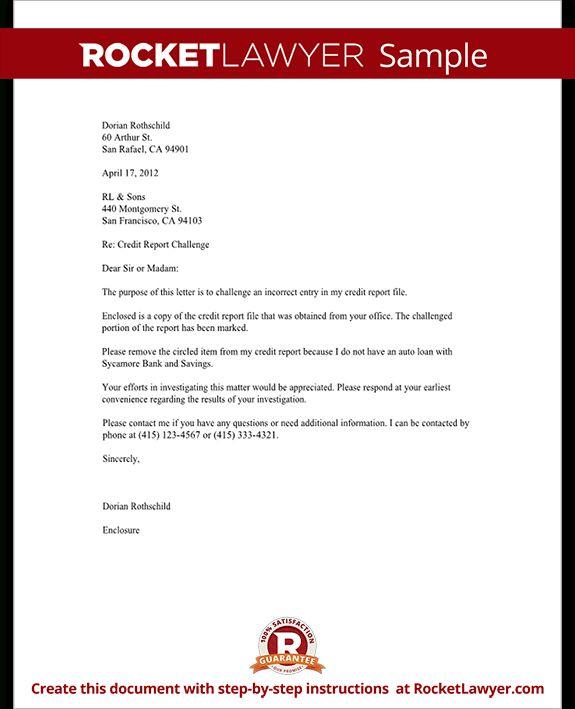 Dispute Credit Report Letter  HttpWwwValeryNovoselskyOrg
