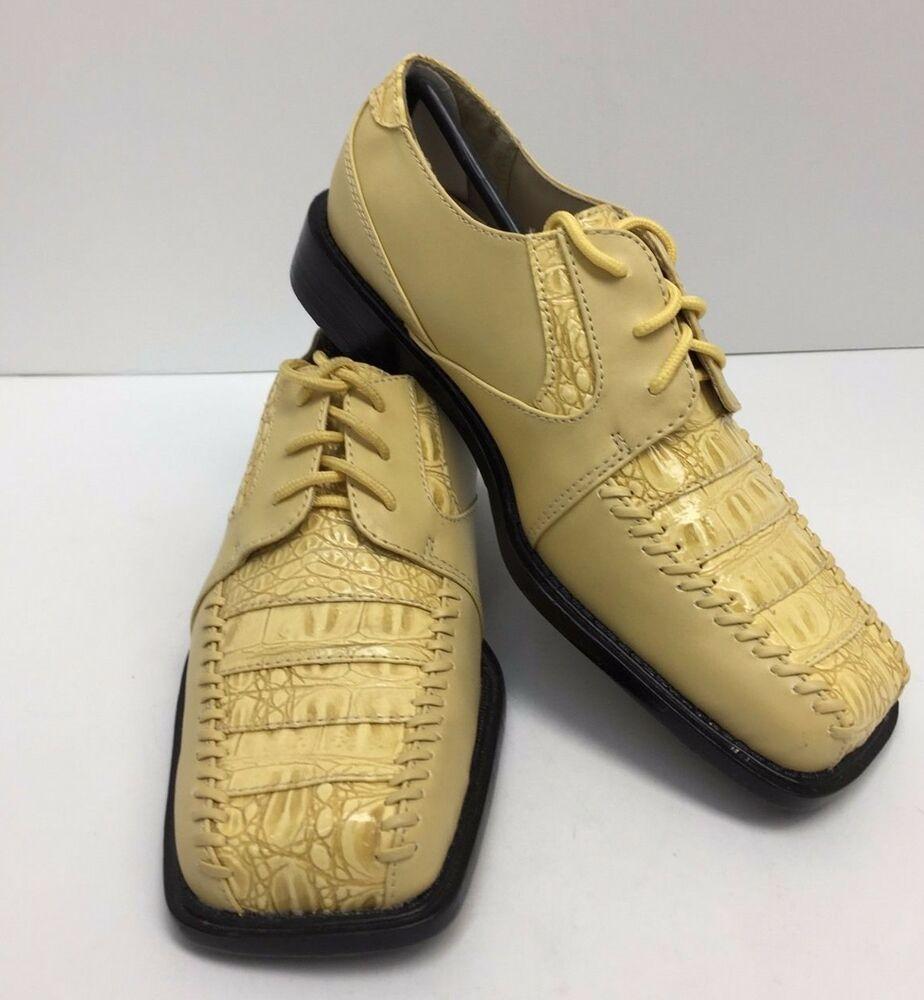 Hugo Vitelli Boys Dress Shoes Lemon