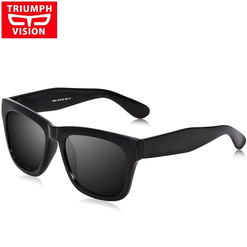 85d8445cbc1 TRIUMPH VISION Male Polarized Sunglasses Men Brand Black Square Shades  UV400 Polaroid Sun Glasses For Men