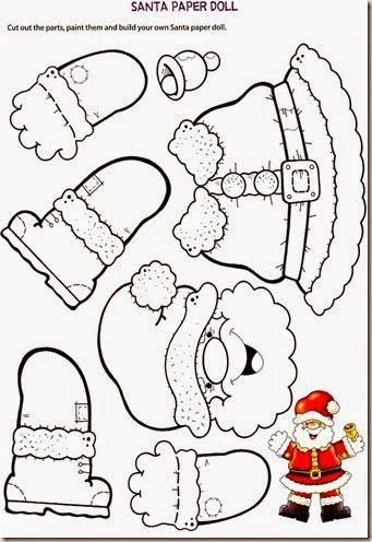 Plantilla per construir el Pare Noel