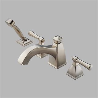 Check out the Brizo T67740-BN Vesi Curve Roman Tub Trim in Brushed Nickel with Handshower priced at $851.04 at Homeclick.com.