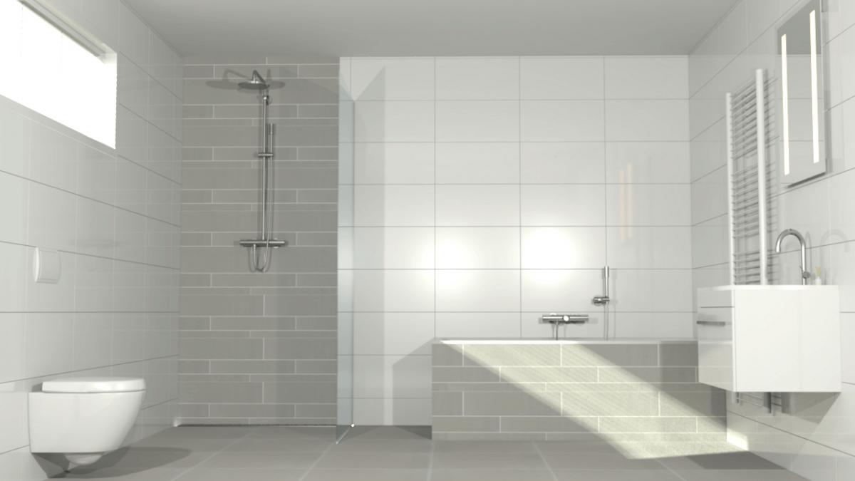 badkamer wit met vloertegel hout - Google zoeken | Badkamer ...