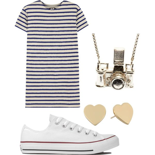 Untitled #7 by jessie35124 on Polyvore featuring polyvore, fashion, style, NLST, Converse, Kiel Mead Studio and Kate Spade