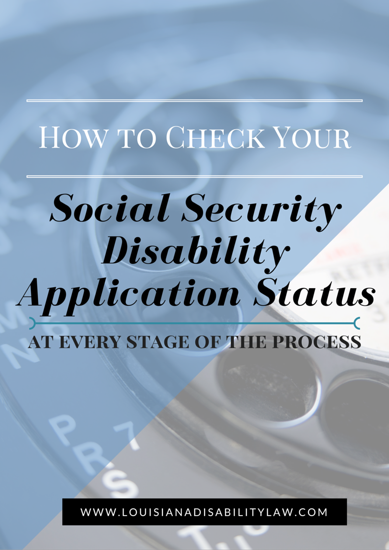 How to check your SSD & SSI Application Status | Louisiana Social