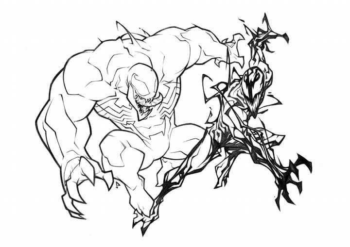 Venom Vs Carnage By Petersauros Rex Spiderman Art Comic Villains Marvel Art
