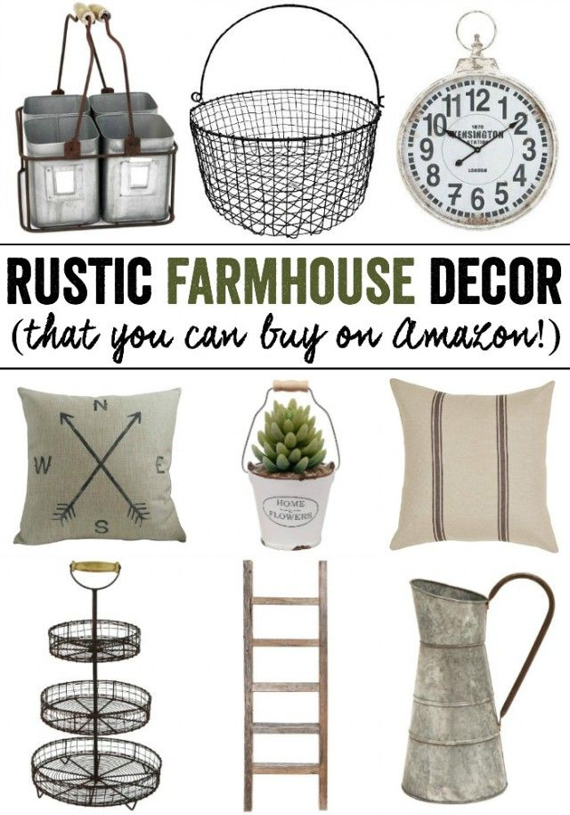 Rustic Farmhouse Decor From Amazon