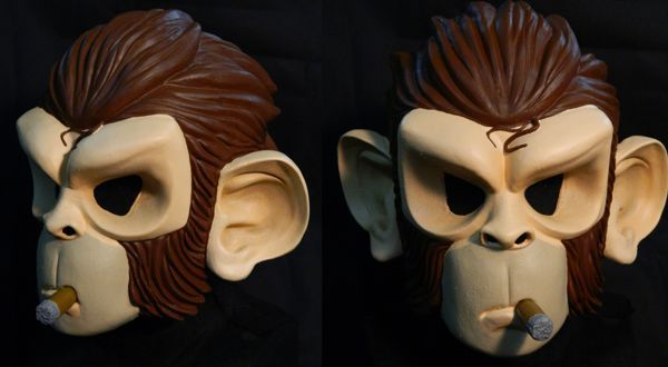 GTA Space Monkey MASK - sculpture by Patricia Fernandes and Vinicios Jorge.  Latex Mask  5ac3b4b69f88