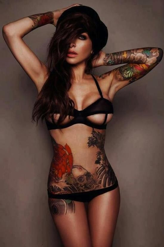 Sexy stomach tattoos for girls