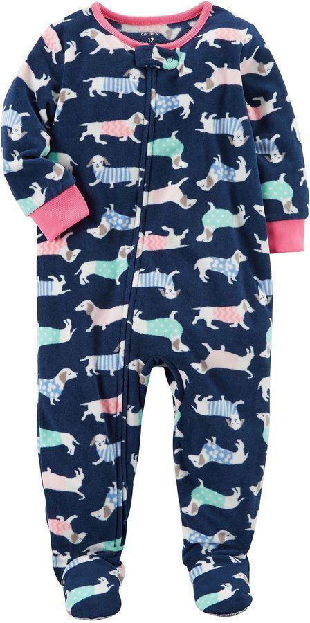 9c8cb7b0f Carter s Long Sleeve One Piece Pajama-Baby Girls