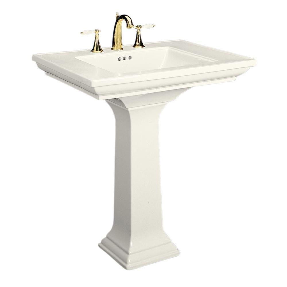 Memoirs Ceramic Pedestal Combo Bathroom Sink In Biscuit With