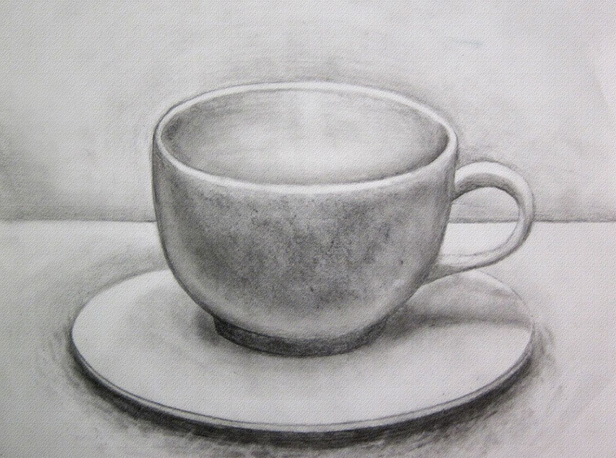 Quot Coffee Mug Quot 8 X 10 Graphite Drawing Cup Pencil