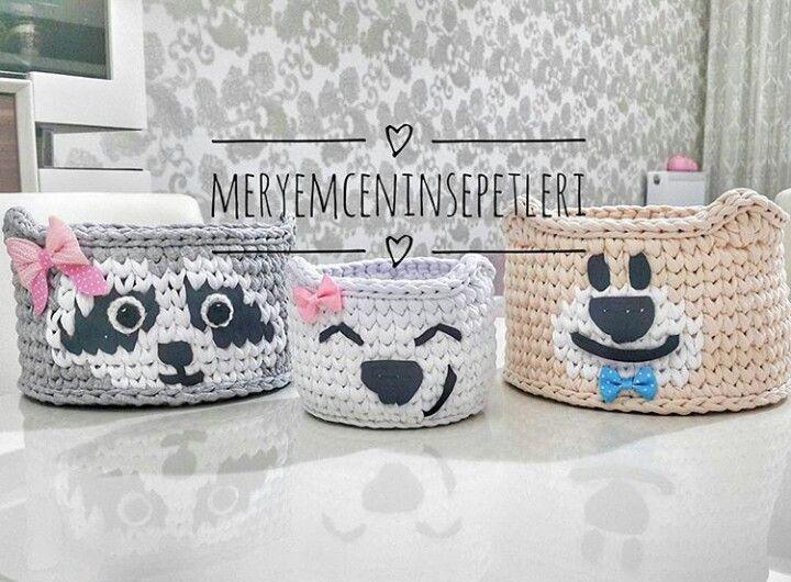 Pin de olga lucia en cestos bebe | Pinterest | Cesto, Trapillo y ...