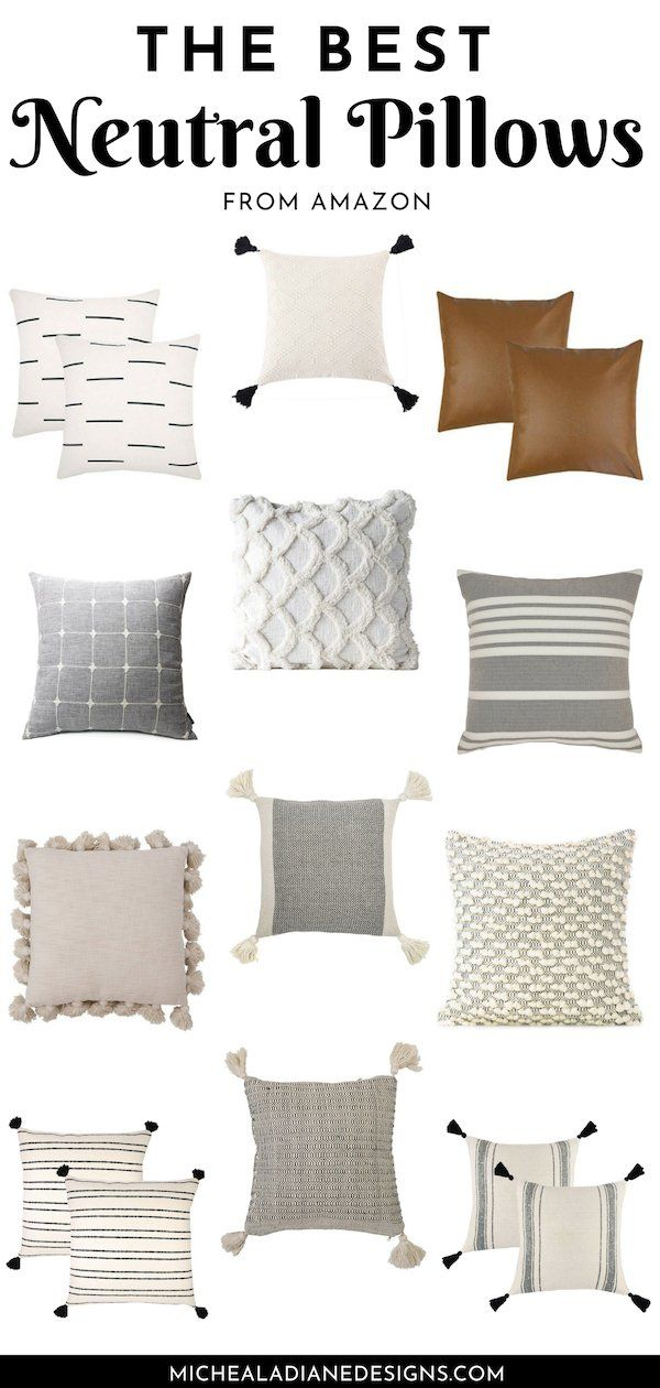 The best affordable neutral throw pillows from amazon! Farmhouse Throw Pillows | Throw Pillows Living Room | Cheap Throw Pillows #farmhouse #pillows #cozy