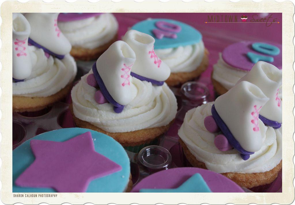 Super Cute Roller Skate Cupcakes