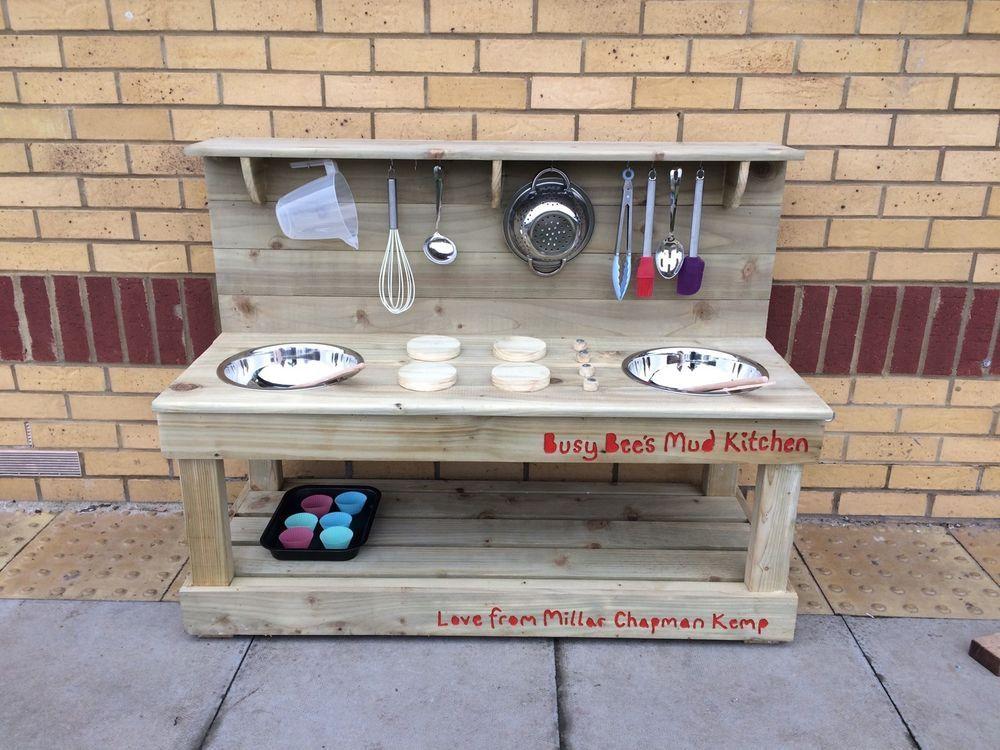 Mud Kitchen Children 39 S Outdoor Garden Wooden Toy Gardens