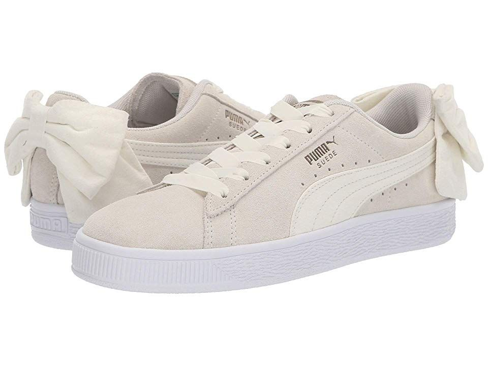 PUMA Suede Bow Women's Lace up casual Shoes Whisper White