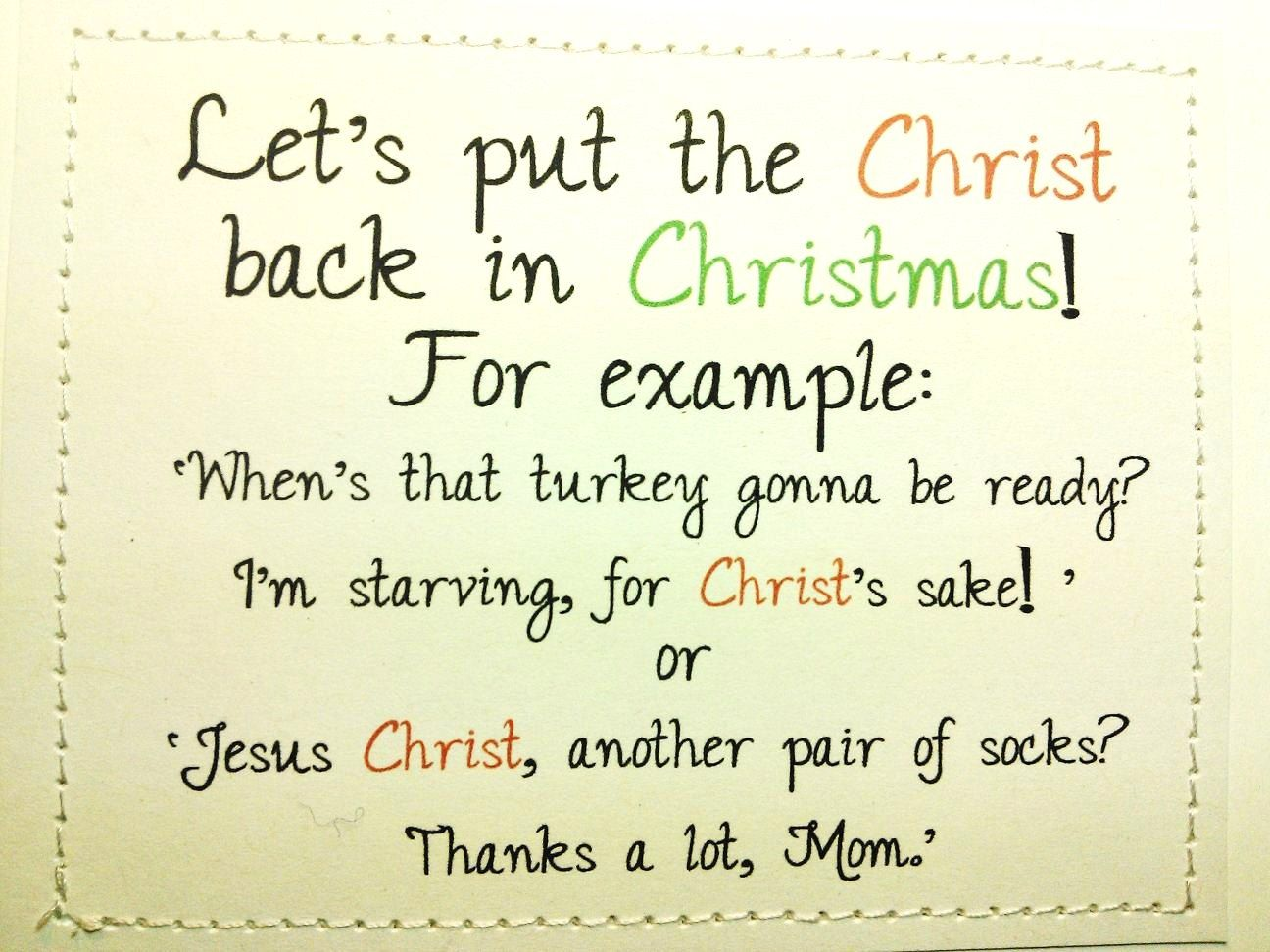 Funny new baby card sh t just got real enjoy parenthood mature funny christmas card lets put the christ back in christmas 600 via kristyandbryce Gallery