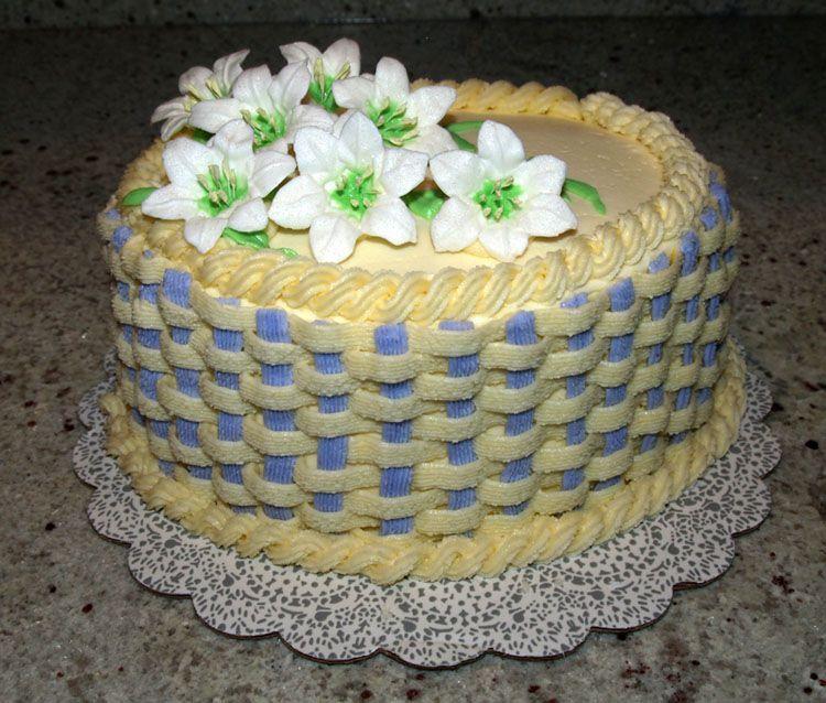 Easter lilies   Easter cake decorating, Basket weave cake ...