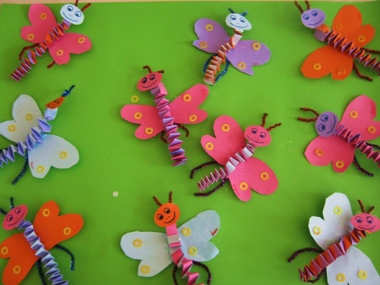 accordion butterfly craft | Crafts and Worksheets for Preschool ...