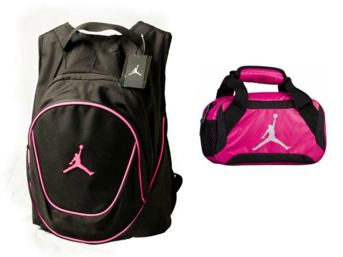 15ed82f13855bc Amazon.com  Nike Air Jordan Jumpman Backpack   Insulated Trainer Lunch Tote  Bag Set