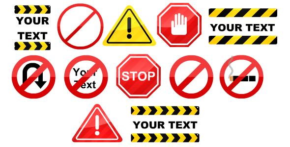 Warning Signs Loop Animation Warning Signs Signs Website Themes