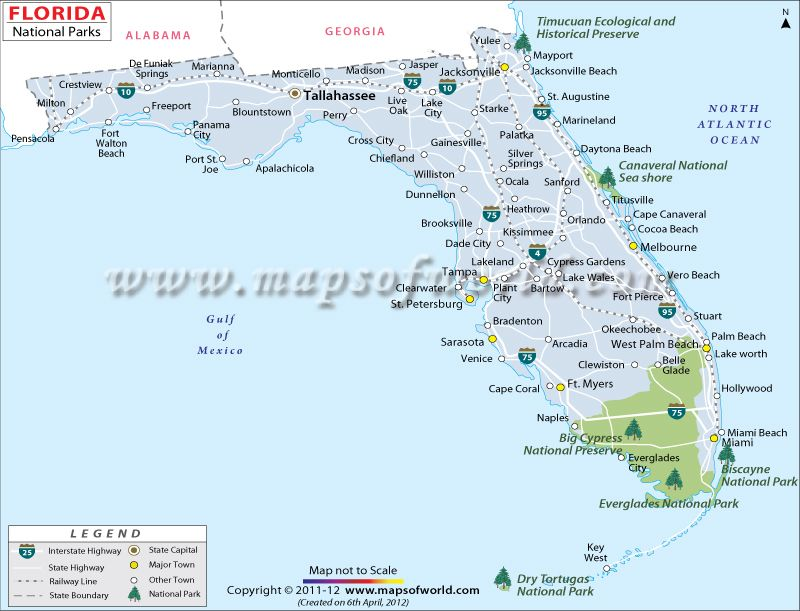 Florida National Parks Interesting Maps Pinterest Florida