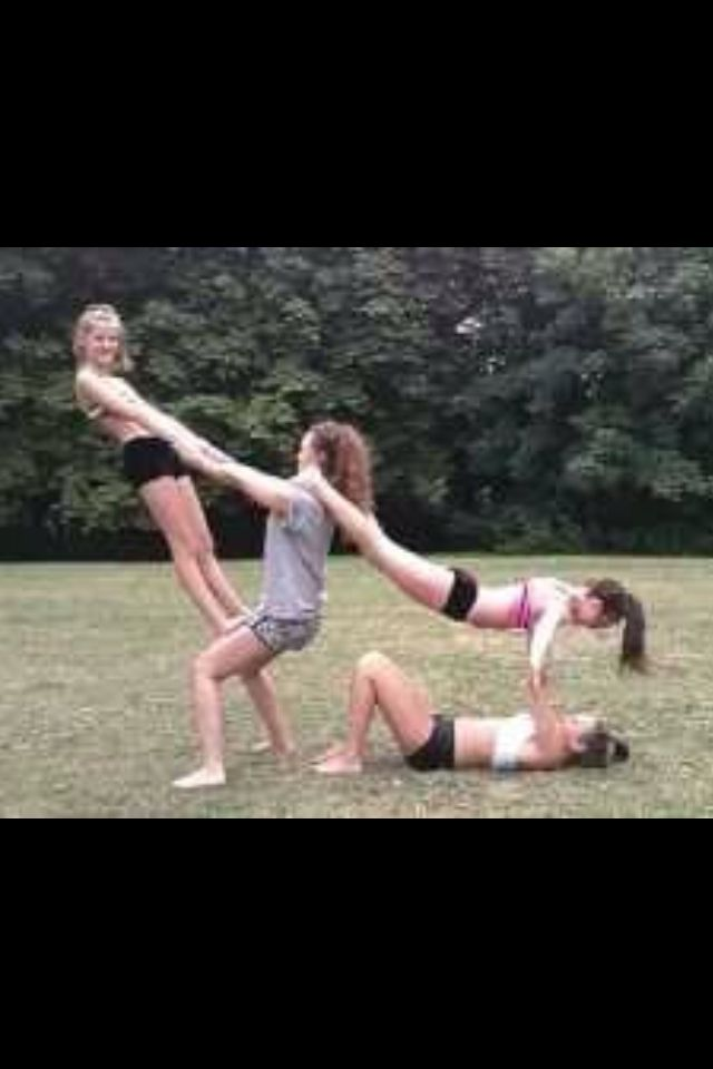 4 Person Yoga Poses : person, poses, Annaandisabel, Partner, Poses,, Challenge, Poses