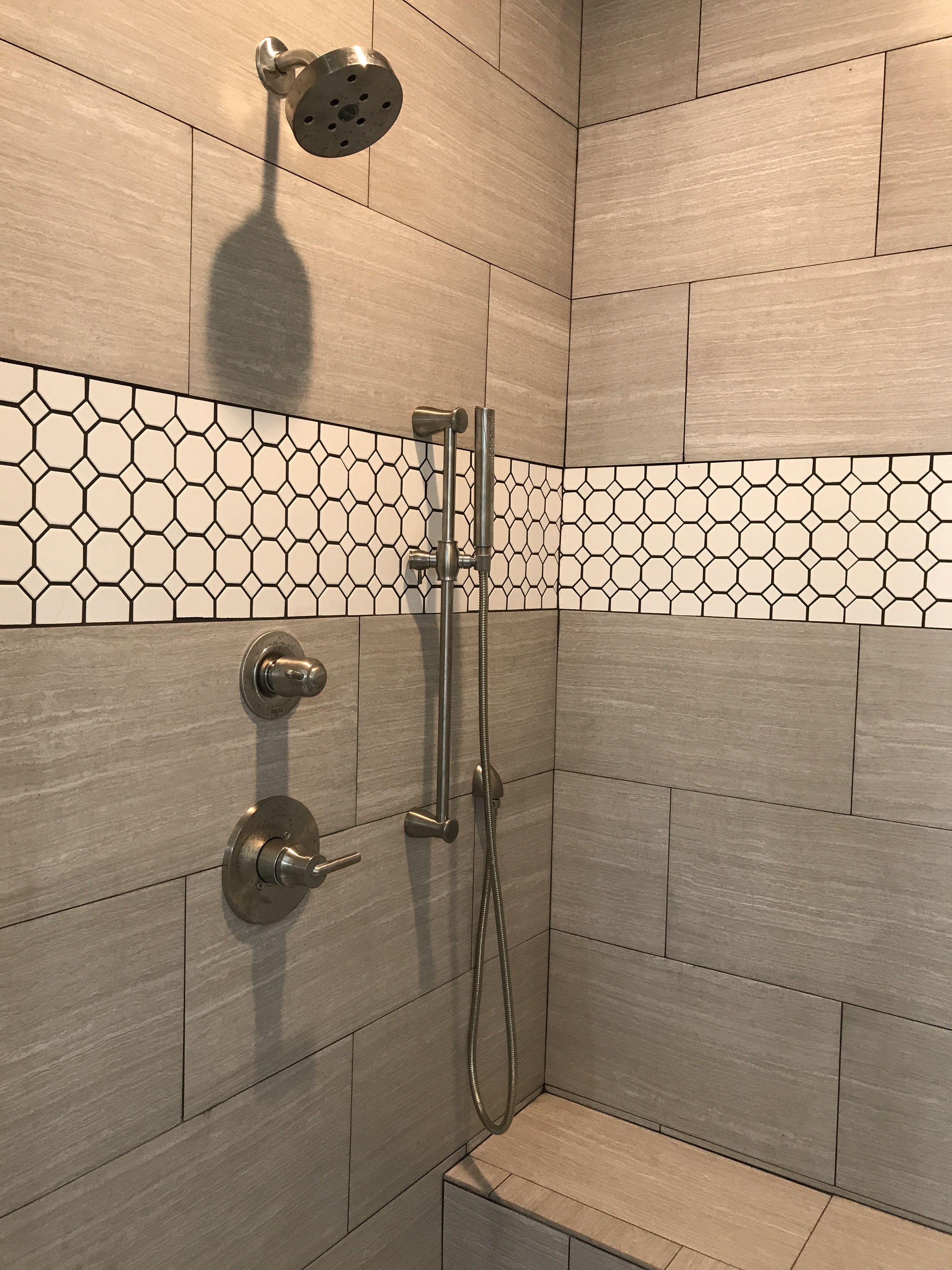 Master Bathroom Shower Delta Trinsic Faucet And Handheld
