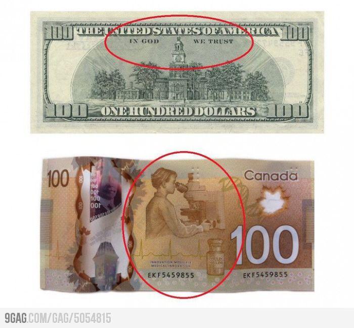 Canada Vs U S A Canadian Money