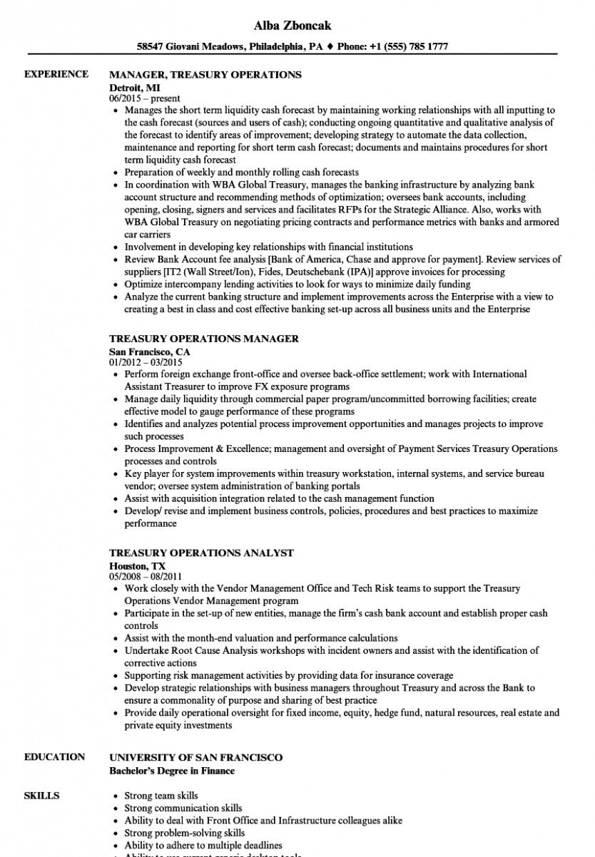 10 Resume Format For Financial institution Job In Phrase