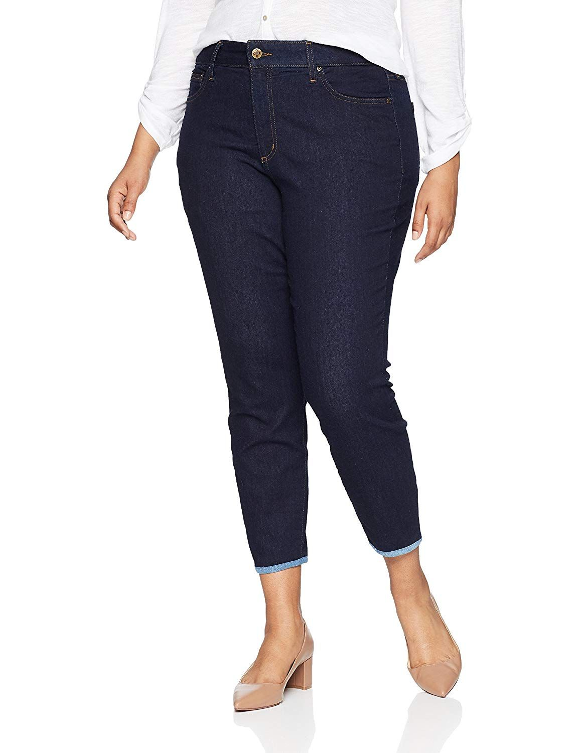 NYDJ Womens Plus Size Alina Ankle Jeans