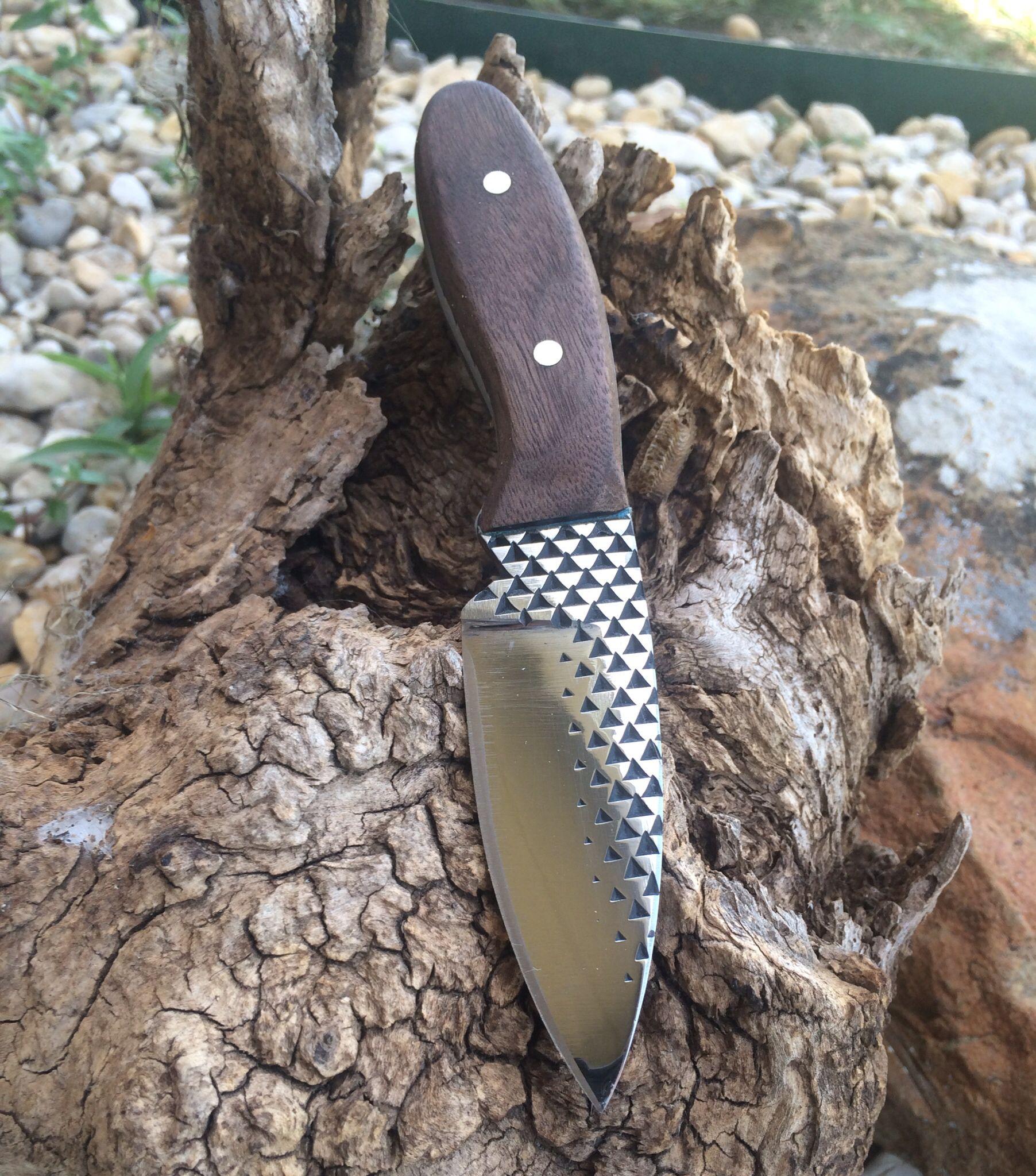 Skinning knife made from file. JoeBear | Forging knives ...