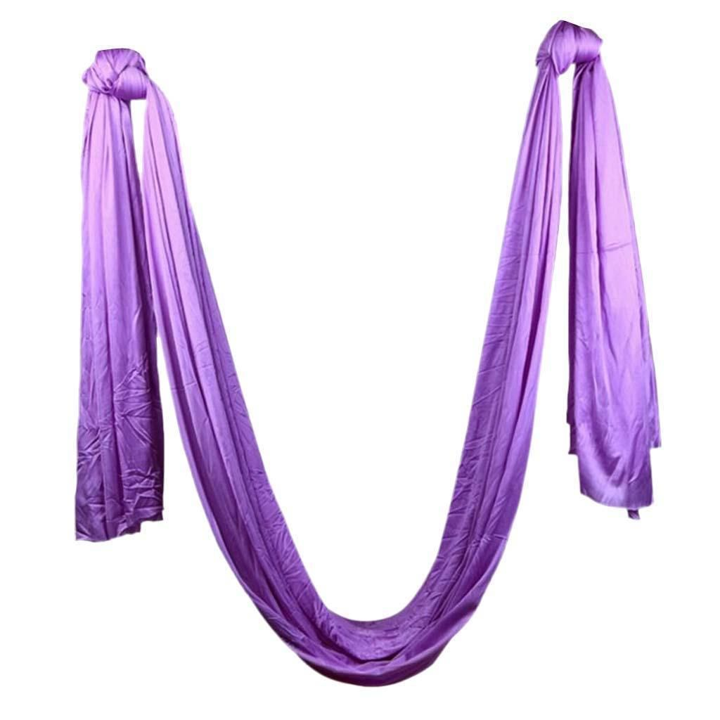 Purple large bearing yoga swing sling hammock trapeze for joyful