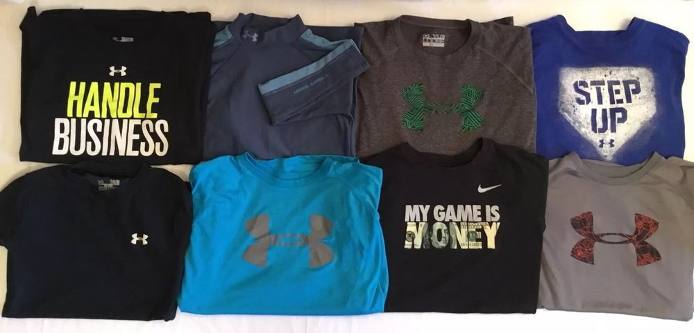 98aa1c7da85 Lot 8 Pieces Youth Boys (7) Under Armour Heat-Cold-Gear (1) Nike T-Shirt  YLG  UnderArmourNike  Everyday