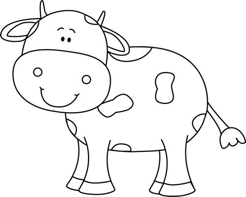 Black And White Cow Cow Coloring Pages Cow Colour Cow Drawing