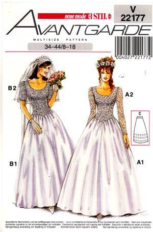 SewingPatterns.com  Wedding gown patterns, Gown pattern, Wedding