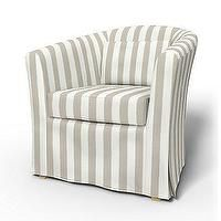 ikea barrel chair adjustable piano slipcover covers bemz stripes neutral cabana