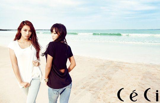 Bora & Hyorin (Sistar) for CéCi (May 2013) ~