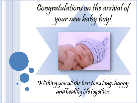 congratulation with baby