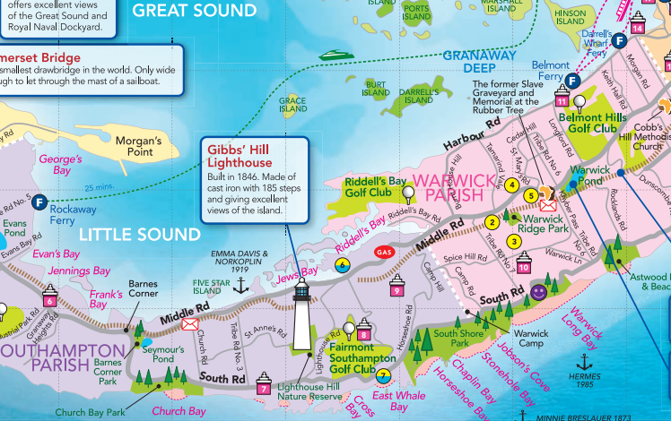 Bermuda map Bermuda Pinterest Cruises Vacation and Rccl cruises