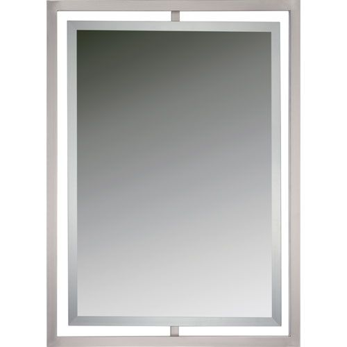 Reflections Brushed Nickel Twenty Four Inch Rectangular Mirror