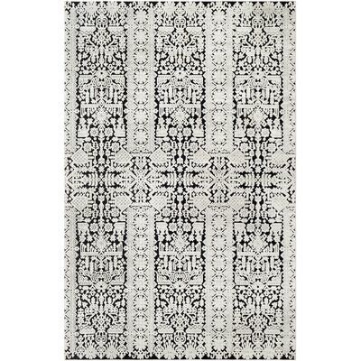 World Menagerie Cruz Global Inspired Ivory Black Area Rug Rug Size Rectangle 7 10 X 10 2 In 2020 Rugs Synthetic Rugs Area Rugs
