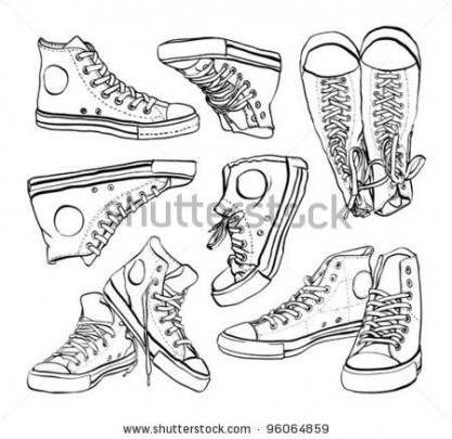 64 New Ideas For How To Draw Anime Shoes Illustrations Howto With Images Sneakers Illustration Sneakers Drawing Converse Drawing